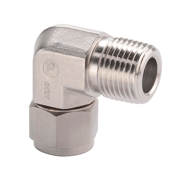 Parker male elbow alok tek stainless piping products